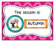 Chevron Calendar Set with a Weather Theme Editable