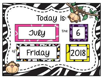 Calendar and Weather Set {Jungle Theme}