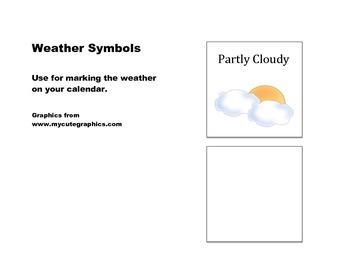 Calendar Weather Symbols
