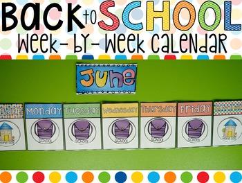 Calendar Week-by-Week (Back to School)