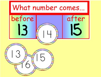 Calendar - What number comes before after...