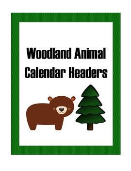 Calendar: Woodland Theme Months