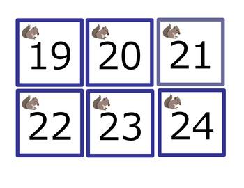 Calendar: Woodland Theme Numbers