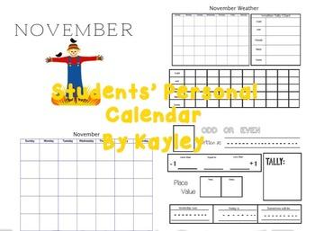 Calendar Work Booklet