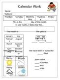 Calendar Work(Morning Work)