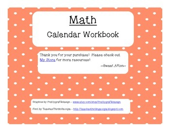 Calendar Workbook