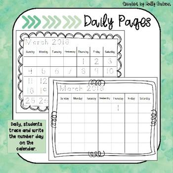 Calendar Workbook: March