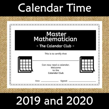 Calendar Worksheet Booklet 2018 and 2019