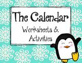 Calendar Worksheets and Activities.  Beginner.  Math Review. Centers