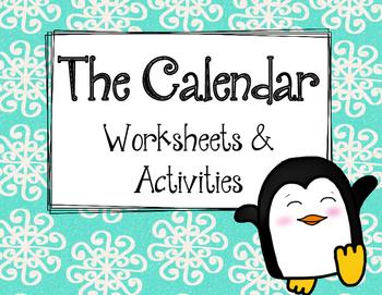 Calendar Worksheets and Activities.  Beginner.  Math Revie