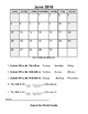 Calendar Worksheets and Assessment