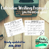 Calendar Writing Prompts for the Entire Year