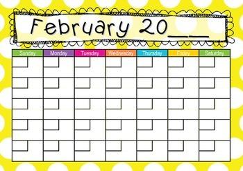 Calendar Yellow Dots Theme
