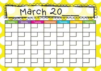 Calendar Yellow Dots Theme
