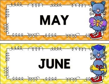 Calendar and Birthday Display {Groovy Cat}