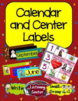 Calendar and Center Labels