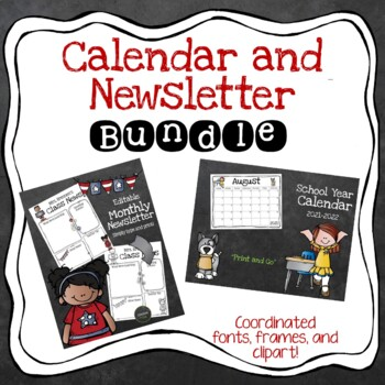 Calendar and Newsletter Template Bundle