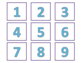 Calendar and Number Labels (Blue Version)