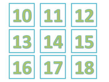 Calendar and Number Labels (Green Version)
