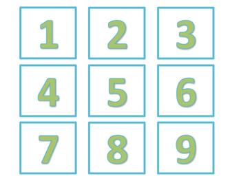 Calendar and Number Labels (Green Version)
