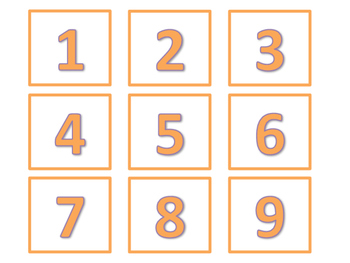 Calendar and Number Labels (Orange Version)