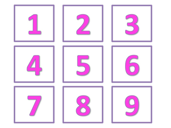 Calendar and Number Labels (Pink Version)