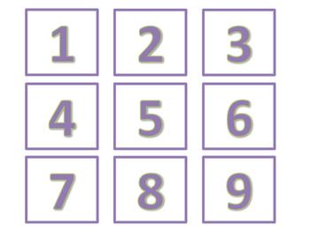 Calendar and Number Labels (Purple Version)