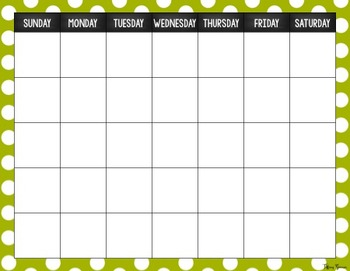 Calendar and Number of the Day Board {Polka Dot Style}