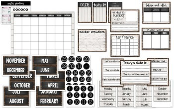 Calendar and Number of the Day Board {Shiplap Style}