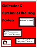 Calendar and Number of the Day Posters