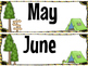 Calendar and Numbers Set Camp Theme
