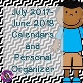Teacher Calendar 2017-2018 {Free Yearly Updates}