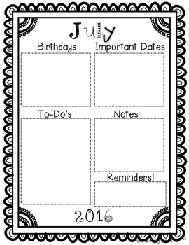 Teacher Calendar 2017-2018 {Free Yearly Updates}