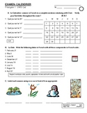 Calendar and Seasons French Exam/Quiz