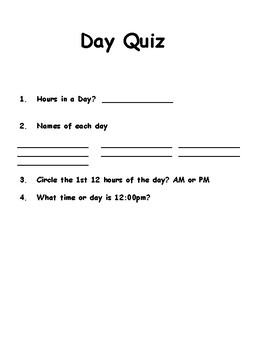 Calendar and Time Workbook: What is a Day?