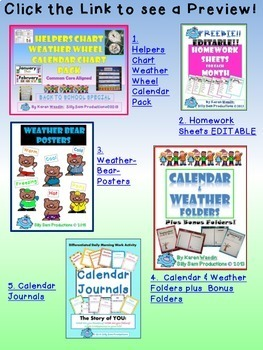 Calendar and Weather Back to School BUNDLE