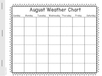Calendar and Weather Booklet