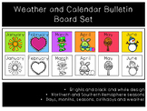 Calendar and Weather Bulletin Board Set - Brights and Black Line