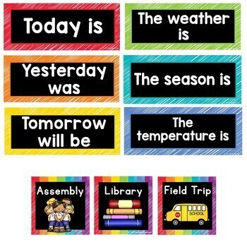 Calendar and Weather Cards