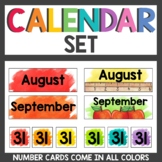 Calendar and Weather Cards Watercolor