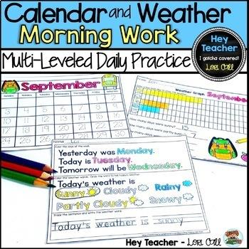 Morning Work: Calendar & Weather