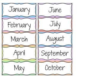 Calendar and Weather Display set