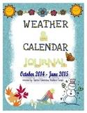 Calendar and Weather Journal (October 2014 - June 2015)