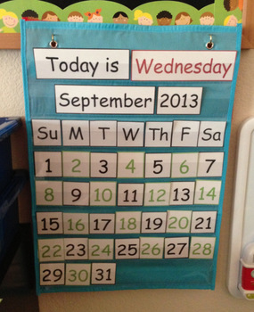 Calendar and Weather Mini Pocket Chart Set