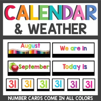 Calendar and Weather Set with real photos