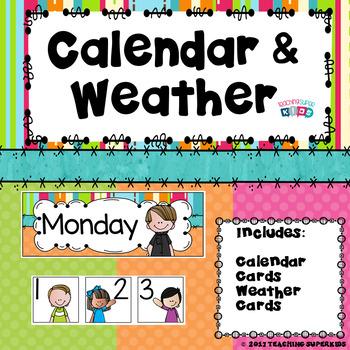 Calendar and Weather Set