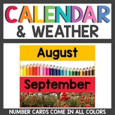 Rainbow Class Decor Calendar and Weather Set