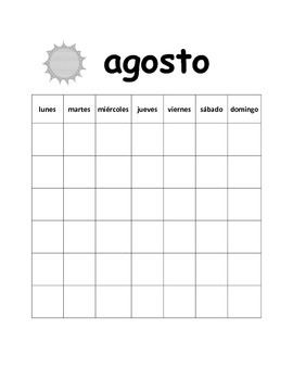Calendar and Weather - Spanish