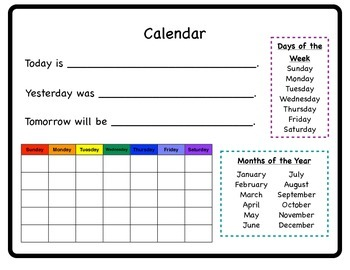 Calendar and Weather Student Charts
