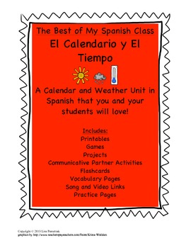 Calendar and Weather Unit in Spanish that you and your students will love!